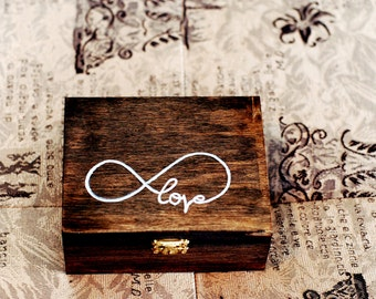 Ring Bearer Box, Wooden Ring Bearer Box, Shabby Chic Rustic Wedding Decor, Ring Bearer Pillow Alternative, Personalized Ring Box