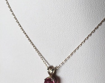 Pink Tourmaline Pendant & Sterling Silver