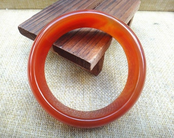 Free shipping  Natural red agate Round bangle  (inner diameter 59.7mm)