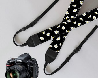 Items similar to Camera Strap Cover with 2 Lens Cap ...