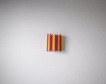 original wall in hand made colorful straws.