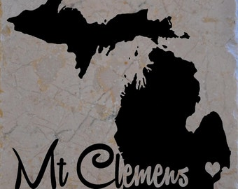 Set of 4 Mt Clemens Michigan Coaster Free Shipping