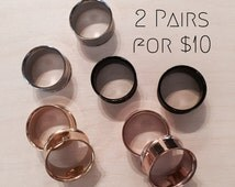 Smooth Double Flare Tunnels - Choose 2 pairs!