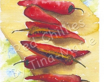 RED CHILLIES - Giclee Print