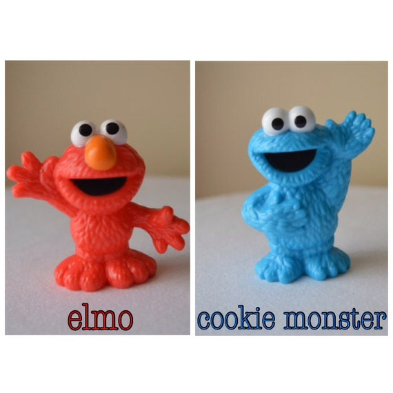Elmo Cake Toppers Decorations : Sesame Street Cake Toppers Elmo Cookie Monster by psimadethatt