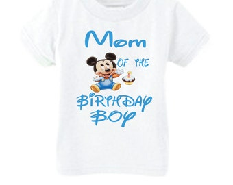 Mickey Mouse 1st Birthday Parent Shirt