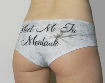 Meet Me in Montauk Underwear Eternal Sunshine Romantic Ice Print Panties