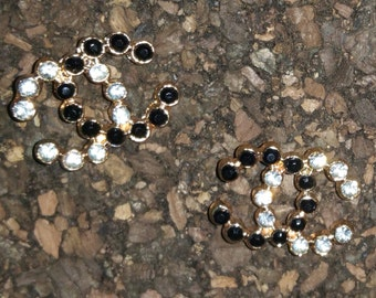 Inspired C Crystal Earrings