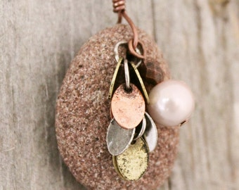 Essential Oils Necklace Diffuser, Diffusing Sandstone Pendant, Aromatherapy Necklace, Young Living Doterra, homeopathic jewelry, scented