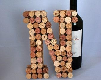 Wine Cork Letter N