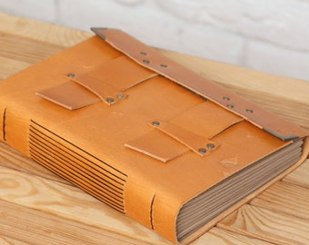 Stitched Leather Journal, Handmade Journal, Personalized Journal, Notebook, Diary