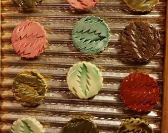 13 point bolt ceramic magnets- set of 5