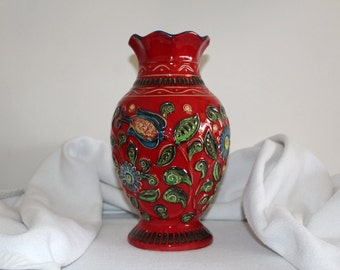 Mid Century Bay pottery vase Retro Vase Lava 62-30 West Germany Made in Germany handwork