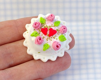 Miniature food. Food for dolls. Cakes for the dolls. Cakes for Dollhouse. Sweets. The mini cakes. Miniature cakes.