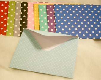 Handmade Envelopes - All Polka Dot (10)