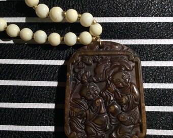 Carved Jade pendent