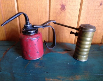 Set of Two Oil Cans
