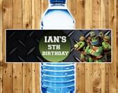 TEENAGE MUTANT NINJA Turtles Water Bottle Labels