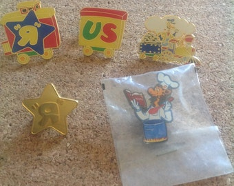 Vintage Toys R Us enamel pins - set of 5 - Limited Edition included