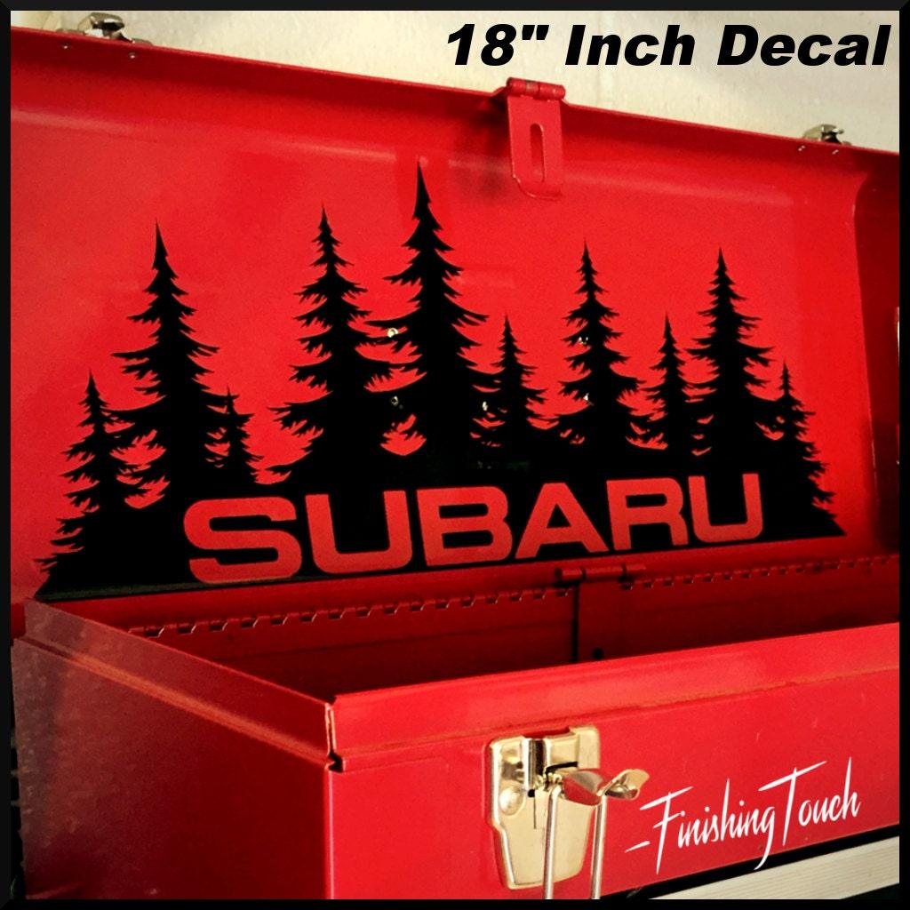 Subaru Decal Custom Vinyl Forest Silhouette Graphic Door Or - Custom vinyl decals portland oregon