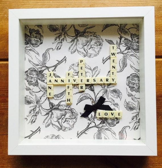 Travel Scrabble Art Family Frame