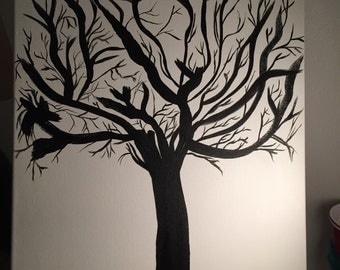 Acrylic Painting - Branching out