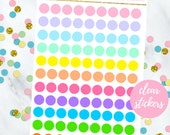 Transparent Mini Circle Stickers (perfect for planners) #CS-007