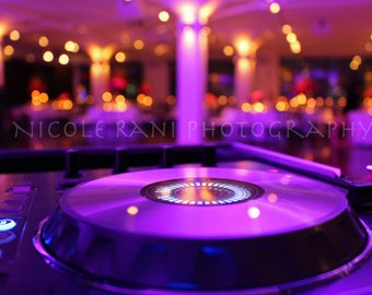 Turntable in Lights - DJ - Music - Fine Art Photography