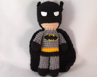 Batman Amigurumi Figure Doll with cape