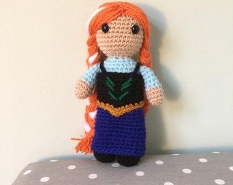 Anna from Frozen Amigurumi Figure Doll