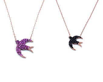 Swallow necklace (various colors)