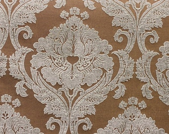 "FABRIC, High End Medallion Chenille, Faberge  Mist, By Marcovaldo  Good for Upholstery, Drapery, Bedding, Pillows, 54"" yd, sold by the yd,"