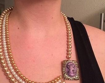 Creamy lavender cameo