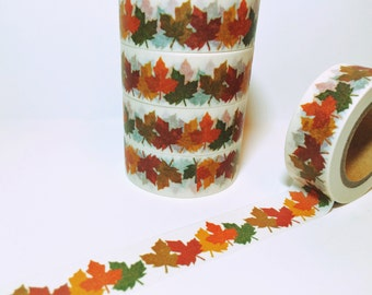 25% OFF Fall and Halloween, Gathered Fall Leaves, Oak Leaves, Autumn, Washi Tape