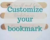 Customize Your Own Woodburned Wooden Bookmark, Book Lover Gifts, Bookish Gifts