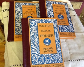 Set of 3 Revised Edition McGuffey Readers