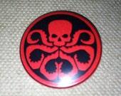 "Marvel - Hydra logo - 1.25"" or 1.5"" - Pinback Button - Magnet - Keychain"
