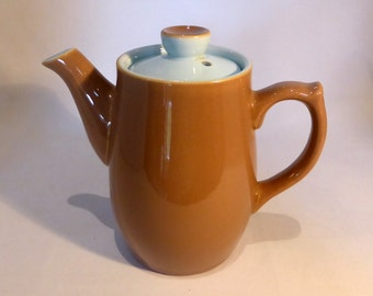 Langley Taupe and Blue coffee pot - original from the 1960's