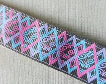 Pastel Diamonds No Slip Headband, Non Slip Headband, Fitness, grey headband, Glitter headband, pink and blue, Swanky Bands