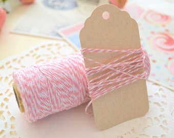 Pink COTTON CANDY Bakers Twine/ Cotton Twine/Gift Wrapping String/10metres