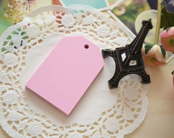 Handmade DIY Blank Large BABY PINK Gift Tags/Gift Wrapping Tags/15PCS