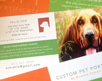 Just Their Furry Face - Gift Certificate (personalized, printed on special stock and envelope included)
