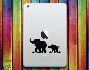 Elephants iPad Sticker Decal - decal stickers, ipad stickers, sticker apple, ipad decals,  ipad sticker, sticker ipad