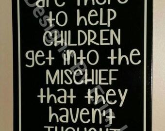 Children & Mischief Wooden Wall Decor