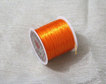 Orange Cords,Elastic Thread Wire, 3 Rolls, 0.8 mm
