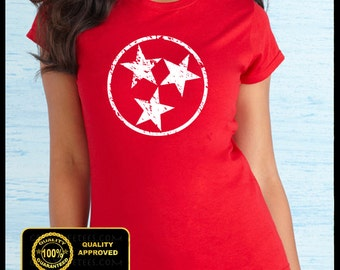 Tennessee Shirt, Nashville, Country Music Tee, Tennessee Vintage Flag T-shirt