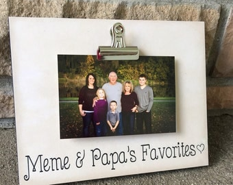 grandparents picture frame gift meme and papas favorites grandparents gift 8x10 photo board with clip photo displaymeme and papa nana