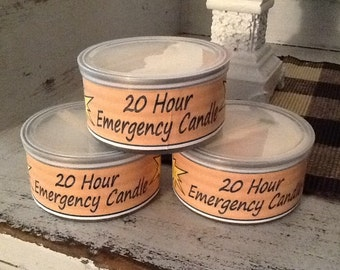 FREE SHIP- Emergency Candles, Soy