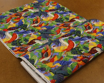 Vivid Color Birds Quilting Fabric By The Yard