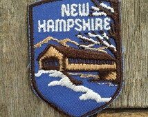 New Hampshire Vintage Souvenir Travel Patch from Voyager